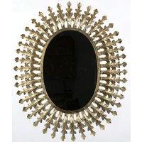 Speil Jasmin Ovalt 70x85 cm - Old Gold