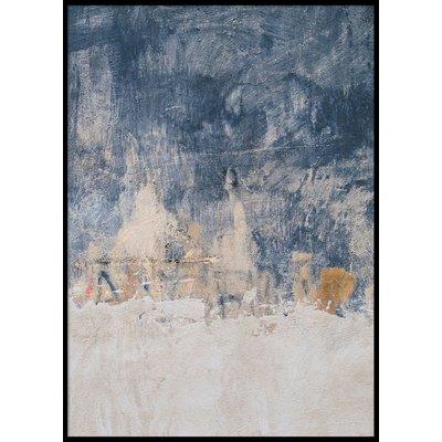 BLUE, WHITE & GOLD - Plakat 50x70 cm