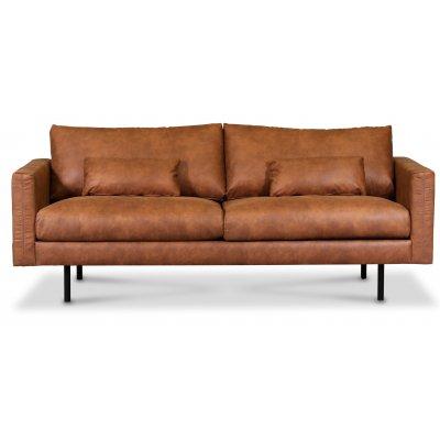Landö 2,5-seter sofa - Cognac (økolær)