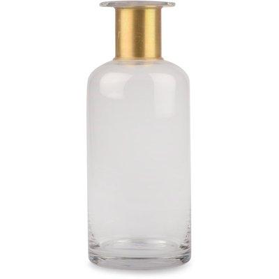 Vase Bottle - klar/gull