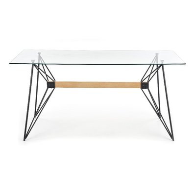 Ulrica Spisebord - Glass/svart