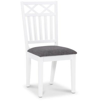 Herrgård Wilmer spisestol - Hvit/ Grå