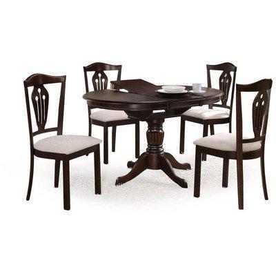 Dana spisebord uttrekkbart - Mørk valnøtt