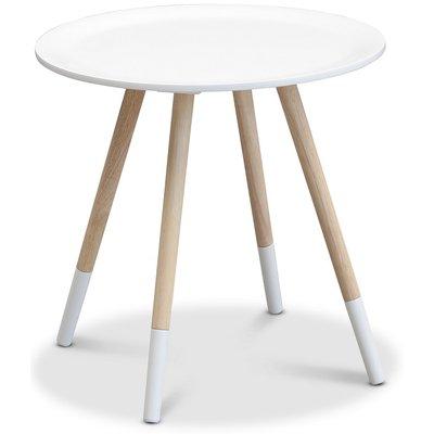 Oslo lampebord - Hvit/lys eik