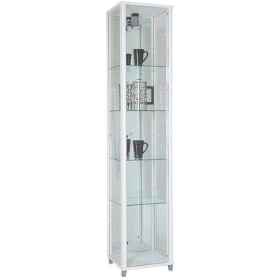 Optima vitrine & glasskap - Hvitt (med speilbakstykke)