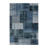 Patchwork-teppe Stracciatella - Jeans/Blå
