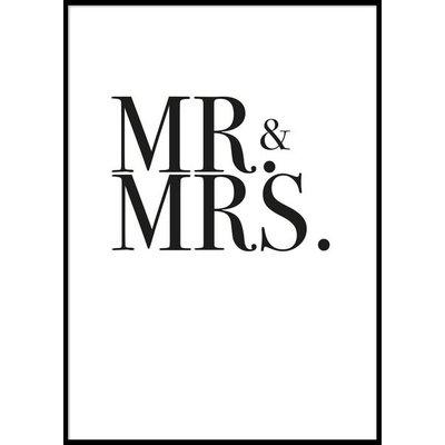MR & MRS - Plakat 50x70 cm