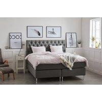 Dream komplett sengepakke med gavl 7-soners kontinentalseng - Grå