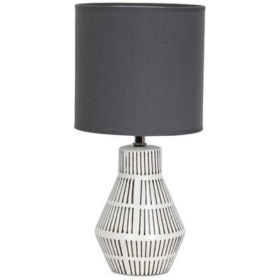 Märtha Bordlampe 41 cm - Hvit / Grå