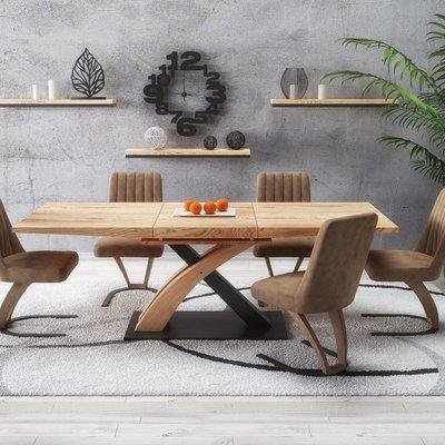 Lyall spisebord - Gull eik/svart