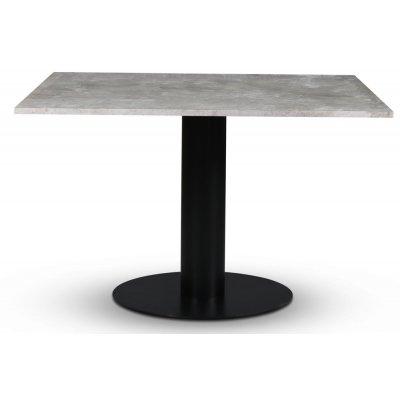 Empire spisebord - Sølv Diana marmor 120x120 cm / Svart metallfot