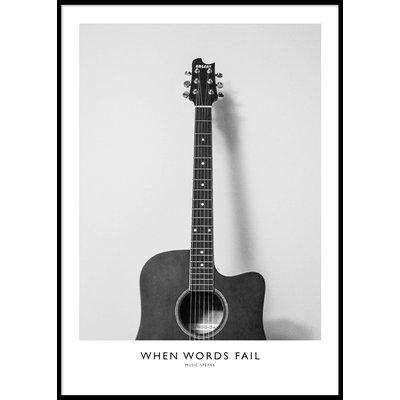 WHEN WORDS FAIL - Plakat 50x70 cm