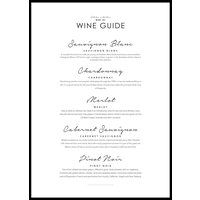 WINE GUIDE - Plakat 50x70 cm
