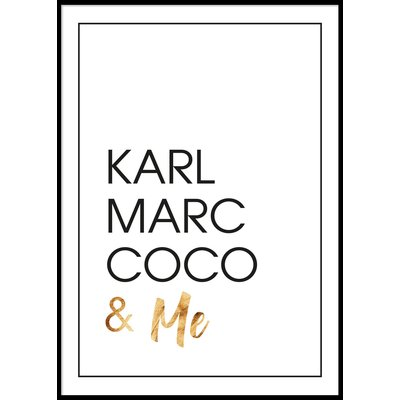 KARL MARC COCO & ME - Plakat 50x70 cm