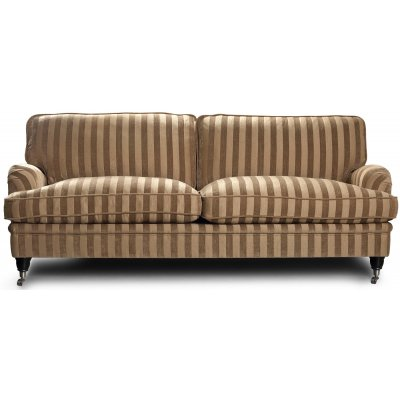 Howard Sir William 3-seter sofa (Dun) - Mobus Darkbeige Stripe