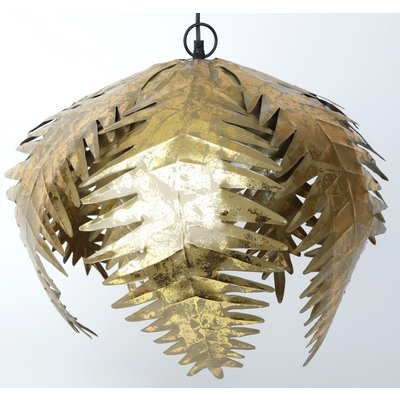 Palmeblad Taklampe - Gull