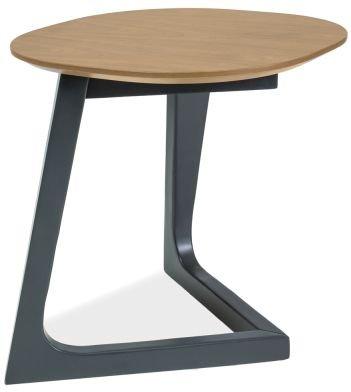 Abrams lampebord - Eik/svart