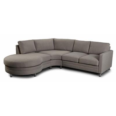 Moderne Living Hjørnesofa med cozy divan - Valgfri farge