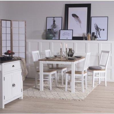 Dalarös spisegruppe bord hvit/eik med 4 st Dalarös stoler