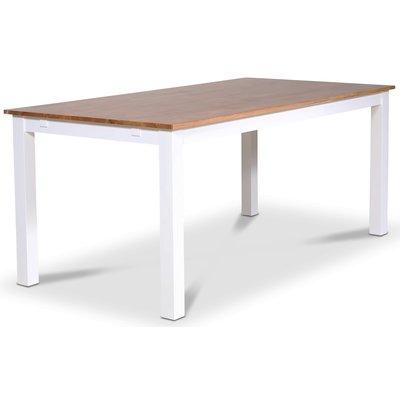 Dalarös spisebord 180 cm - Hvit / oljet eik