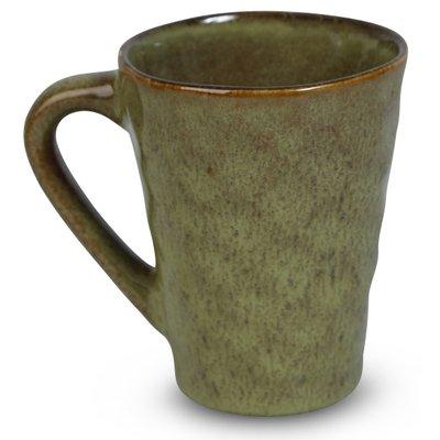 Dreie mugg 6 st i et Sett - Grønn