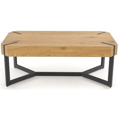 Alana sofabord - Gull eik/svart