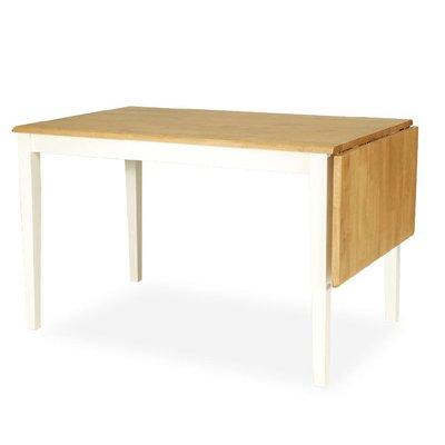 Brisbane spisebord - 120x76 - Hvit /eikebeis
