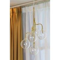 Globe taklampe - Messing / Glass