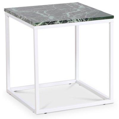 Accent stuebord 50 - Grønn marmor / Hvit