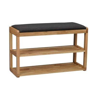 Confect skostativ med sittepute - Eik/mørk grå