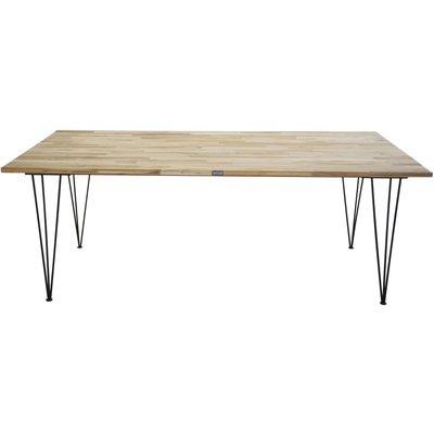Spisebord Annelie 200 cm - Svart / Naturtre