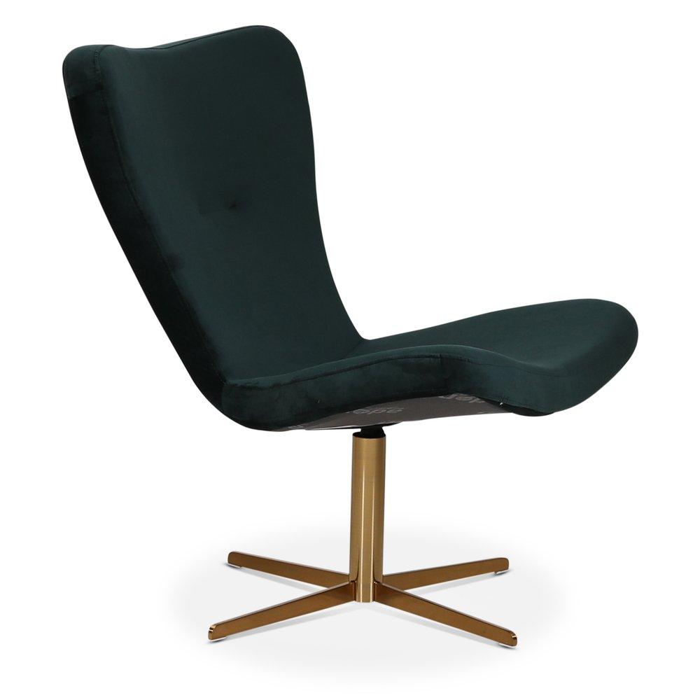 Milano designer lenestol Grønn (Fløyel) Messing 5295