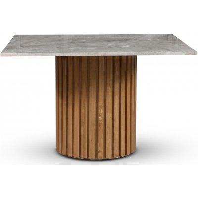 Sumo spisebord 120x120 cm - Oljet eik / Sølvmarmor
