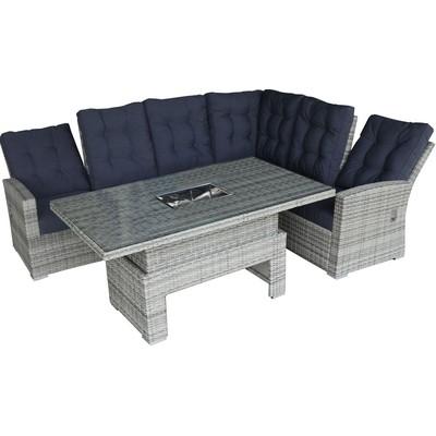 Loungegruppe med recliner - Grå