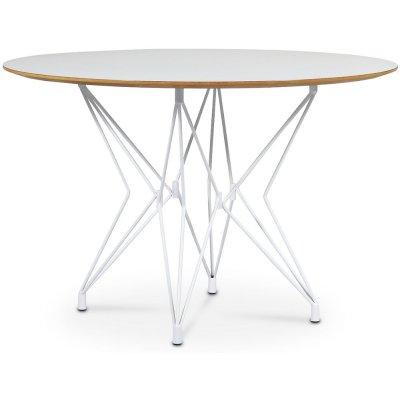 Zoo spisebord Ø118 cm - Hvit / Hvit laminat HPL