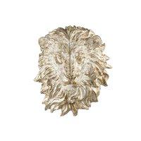 Veggdekorasjon Løve - Gull/hvit