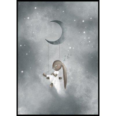 SLEEPING BUNNY - Plakat 50x70 cm