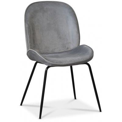 Leo stol - Grå (Fløyel)/svart