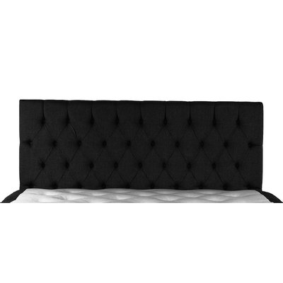 Sort sengegavl inkl veggefeste - 180 cm