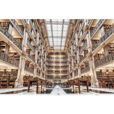 Glassbilde Library - 120x80 cm