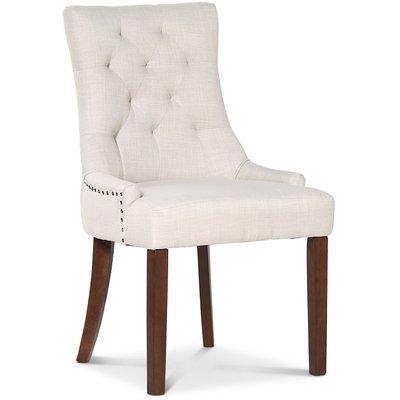 Tuva New Port stol med håndtak - Beige lin