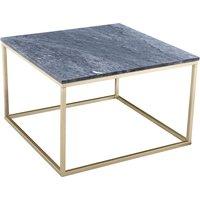 Accent sofabord 75 - Grå marmor/messingfarget understell