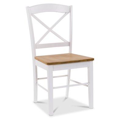 Merida stol - Hvit / eik