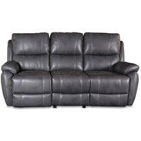 Enjoy Hollywood recliner sofa - 3-seter (el) i grått kunstskinn