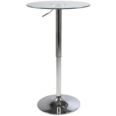 Burbank barbord (Hev- og senkbart) - Glass/krom