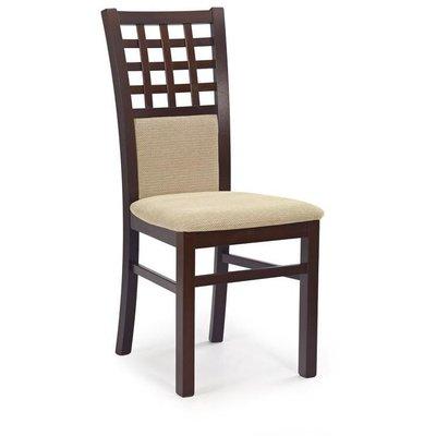 Margaret 3 stol - mørk valnøtt /beige