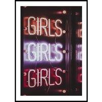 GIRLS GIRLS GIRLS COLOR - Plakat 50x70 cm