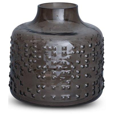 Vase Circle H19 cm - Gråtone