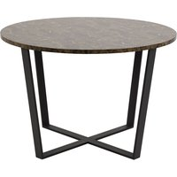 Amble spisebord - Svart/brun marmor