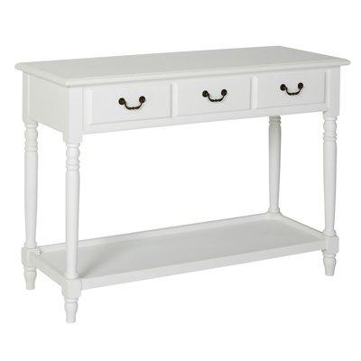 Sofia avlastningsbord med 3 skuffer - Hvit